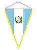 Wimpel mit der Nationalflagge von Guatemala