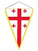 Wimpel mit der Nationalflagge von Georgien