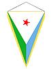 Wimpel mit der Nationalflagge von Dschibuti