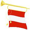 Signalhorn mit Flagge Österreich