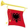 Signalhorn mit Flagge Ablanii