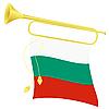 Signalhorn mit Flagge von Bulgarien