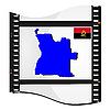 Filmaufnahmen mit nationalen Karte von Angola