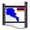 Filmaufnahmen mit nationalen Karte von Armenien