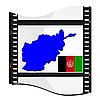 Filmaufnahmen mit nationalen Karte von Afghanistan