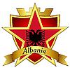 goldener Stern auf der Flagge von Albanien