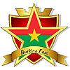 goldener Stern auf der Flagge von Burkina Faso