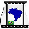 Filmaufnahmen mit nationalen Karte von Brasilien