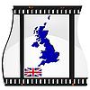 Filmaufnahmen mit nationalen Karte von Großbritannien