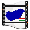 Filmaufnahmen mit nationalen Karte von Ungarn