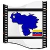 Filmaufnahmen mit nationalen Karte von Venezuela