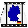Filmaufnahmen mit nationalen Karte von Deutschland