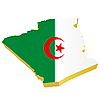 3D-Landkarte von Algerien