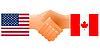 Zeichen der Freundschaft der Vereinigten Staaten und Kanada