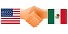 Zeichen der Freundschaft der Vereinigten Staaten und Mexiko
