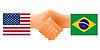 Zeichen der Freundschaft der Vereinigten Staaten und Brasilien