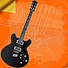 Retro-Hintergrund mit E-Gitarre