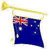 Signalhorn mit Flagge Australien