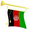 Signalhorn mit Flagge Afghanistan