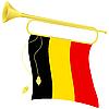 Signalhorn mit Flagge Belgien