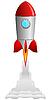 Die Rakete Abheben