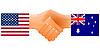 Zeichen der Freundschaft der Vereinigten Staaten und Australien