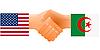 Zeichen der Freundschaft der Vereinigten Staaten und Algerien