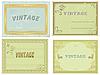 Sammlung von alten Etiketten.
