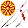 Sammlung von s Kosaken-Waffen