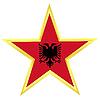 Gold-Star mit Flagge von Albanien