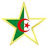 Gold-Star mit Flagge von Algerien