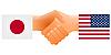 Zeichen der Freundschaft der Vereinigten Staaten und Japan