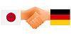 Zeichen der Freundschaft von Deutschland und Japan