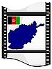 Bild Filmmaterial mit Karte von Afghanistan