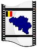 Bild Filmmaterial mit Karte von Belgien