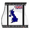 Bild Filmmaterial mit Karte von Großbritannien