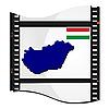 Bild Filmmaterial mit Karte von Ungarn