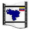 Bild Filmmaterial mit Karte von Venezuela
