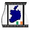 Bild Filmmaterial mit Karte von Irland