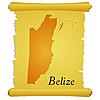 Pergament mit Kontur von Belize