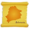 Pergament mit Kontur von Belarussland