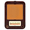 ein altes Radio im Holzkasten