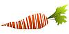 Zanahoria estilizada | Ilustración vectorial