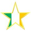 Gold-Star mit Flagge von Irland