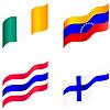 Gruppe von Flags of Ireland, Venezuela, Finnland, Thailand