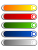 亚光色的空白网页按钮 | 向量插图