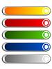Mattierte farbige leere Web-Buttons | Stock Vektrografik