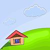 kleines Haus auf dem Hügel