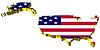 s 3D-Karte der Vereinigten Staaten von Amerika