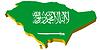 3D-Landkarte von Saudi-Arabien